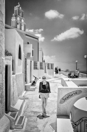 Rachael, Santorini